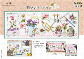 Kreuzstich-Set SodaStitch Flower Garden