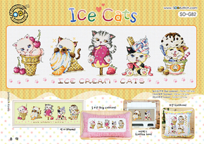 Kreuzstich-Set von Soda Stitch Ice Cats